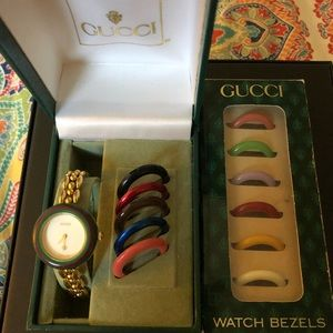 Gucci Vintage White Dial Rice Link Watch